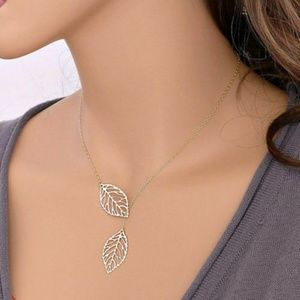 3 for $20  Silver Double Leaf Statement Necklace